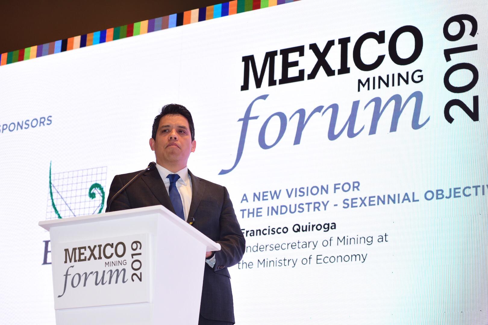 Minería mexicana abierta a inversiones: Francisco Quiroga